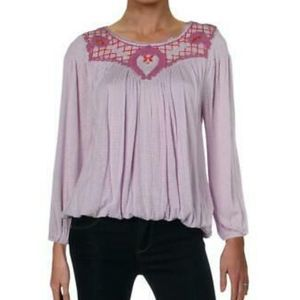 🆕Free People Begonia Embroidered Top